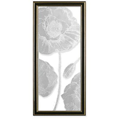"""""""Floral 1"""" Canvas Art in Black/Gold"""