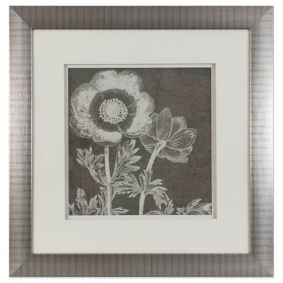 Botanical Beauty Chalk Square IX Under Glass Framed Art