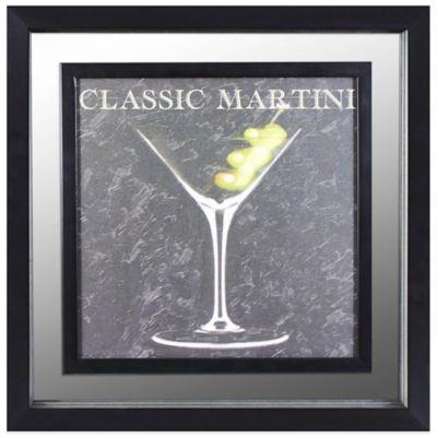 Classic Martini Cocktail Mirror Wall Art