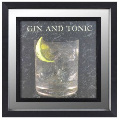 Classic Gin and Tonic Cocktail Mirror Wall Art