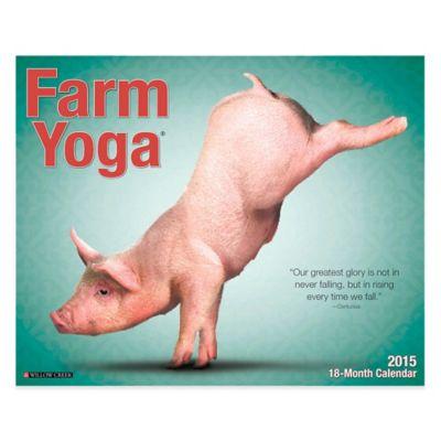 Farm Yoga 2015 18-Month Wall Calendar