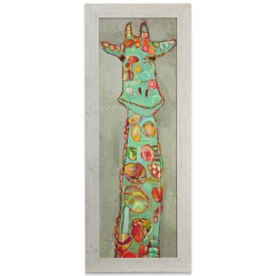 Colorful Giraffe Framed Art