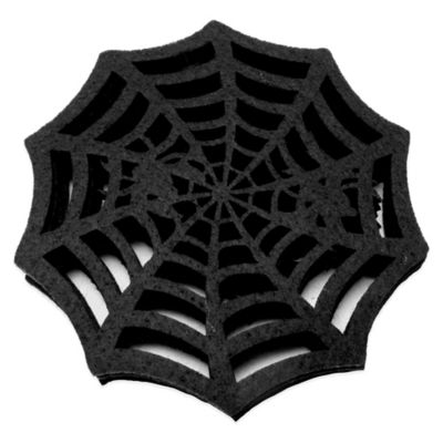Felt Spiderweb Coasters (Set of 4)