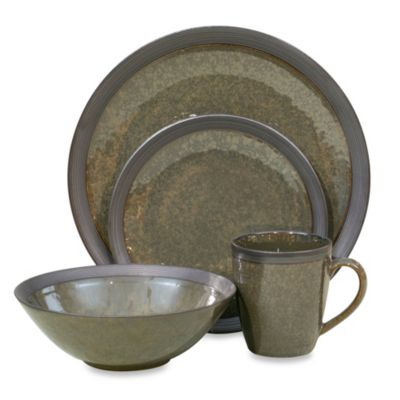Sango Omega 16-Piece Dinnerware Set in Olive
