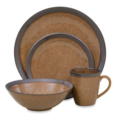Sango Omega 16-Piece Dinnerware Set in Cocoa