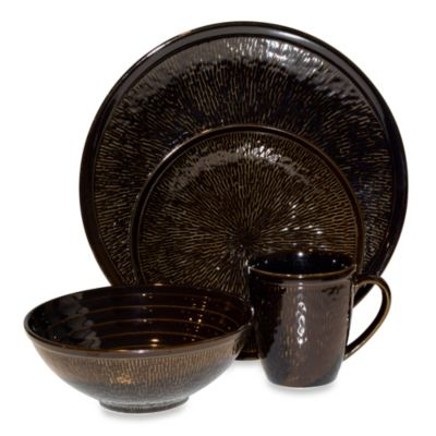 Sango Spectrum 16-Piece Dinnerware Set in Black
