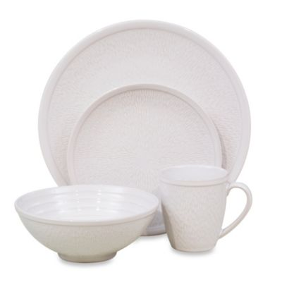 White Textured Dinnerware