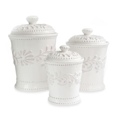 White Kitchen Canisters