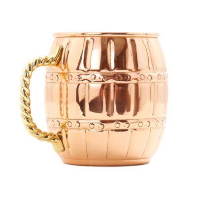 Old Dutch 16 oz. Moscow Mule Barrel Mug in Solid Copper