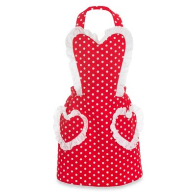 Carolyn's Kitchen Sweetheart Retro Childrens Apron in Cherry Red