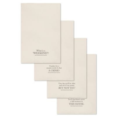 Downton Abbey® Village Collection Tea Towels (Set of 4)