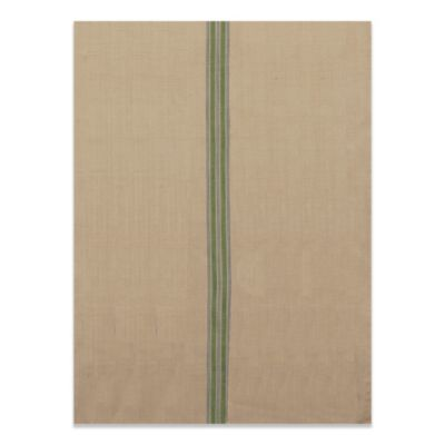Farmhouse Kitchen Tea Towel with Green Stripes