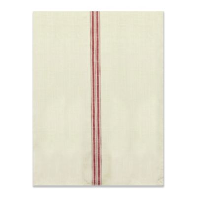 Farmhouse Kitchen Tea Towel with Beige Stripes