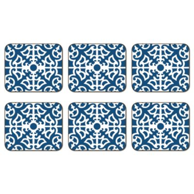 Jason Parterre Blue Coasters (Set of 6)