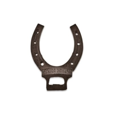 Twine Cast Iron Horseshoe Bottle Opener