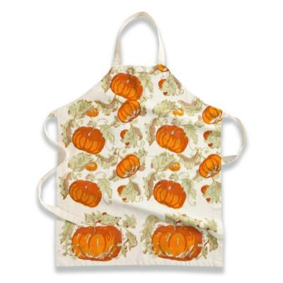 Couleur Nature® Pumpkin Apron in Orange/Mustard