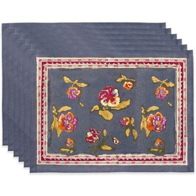 Couleur Nature Pansy Placemats (Set of 6)