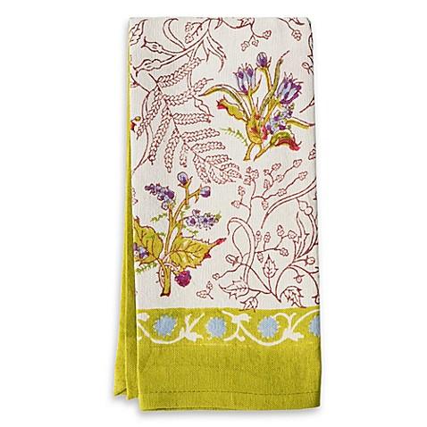 couleur nature petite fleur tea towel bed bath beyond. Black Bedroom Furniture Sets. Home Design Ideas