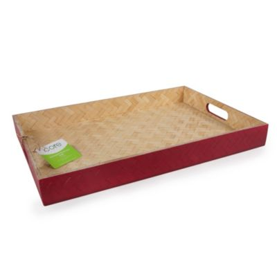 Large Rectangle Woven Tray in Cherry