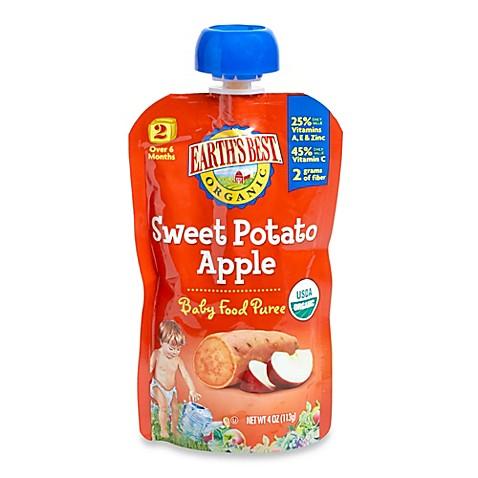 Earth 39 s best organic 4 oz sweet potato apple baby food for What is sweet potato puree