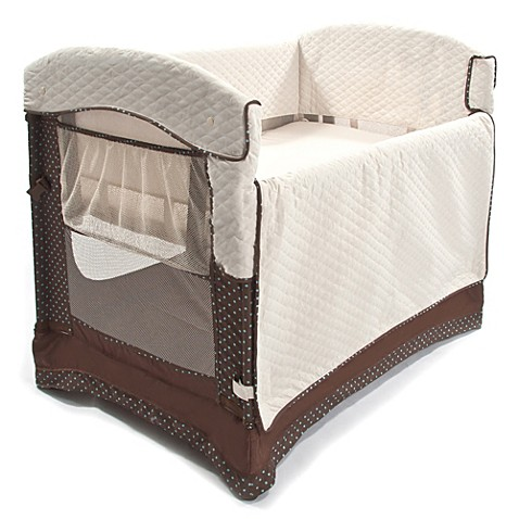 Arm S Reach Ideal Co Sleeper 174 In Java Bed Bath Amp Beyond