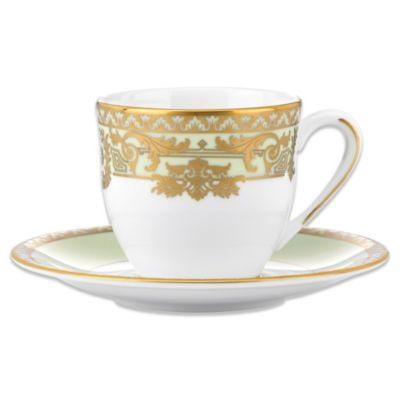 Marchesa by Lenox® Rococo Leaf 3 oz. Espresso Cup and 4 3/4-Inch Saucer