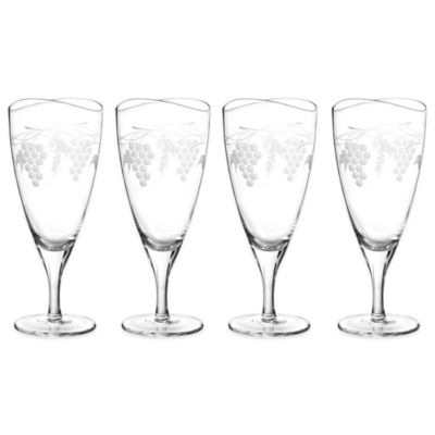 Set of 4 Iced Glass