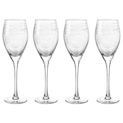 Qualia Graffiti 12 oz. White Wine Glasses (Set of 4)