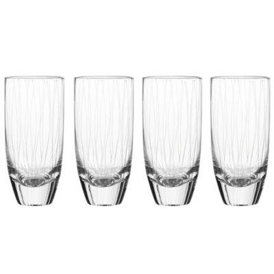 Qualia Breeze 20 oz. Highball Glasses (Set of 4)