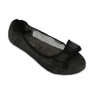 Footzyfolds™ Cora Size 6 Foldable Ballet Flat in Black