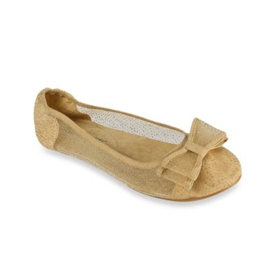 Footzyfolds™ Cora Size 6 Foldable Ballet Flat in Nude