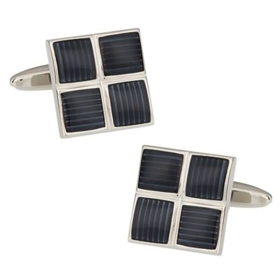 Four Square Cufflinks in Grey