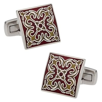 Details in Red Cufflinks