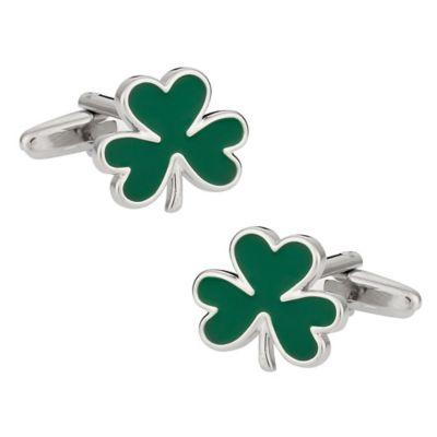 Green 3-Leaf Clover Cufflinks