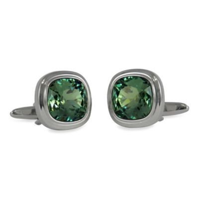 Silvertone Swarovski® Crystal Cufflinks Mens Jewelry