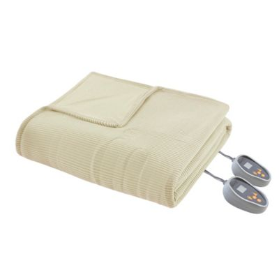 Micro Fleece Heated King Blanket Bedding