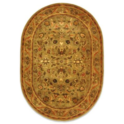 Safavieh Antiquities 6-Foot Round Wool Rug in Gold