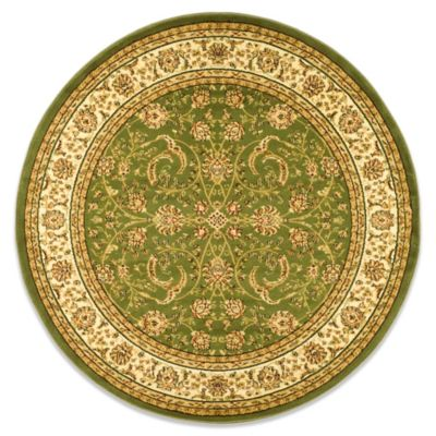 Safavieh Sage and Ivory Floral 5-Foot 3-Inch Round Rug