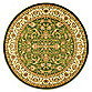 Safavieh Sage and Ivory Floral 8-Foot Round Rug