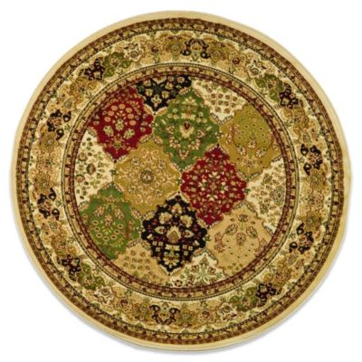 Lyndhurst Diamond Patchwork 8-Foot Round Rug