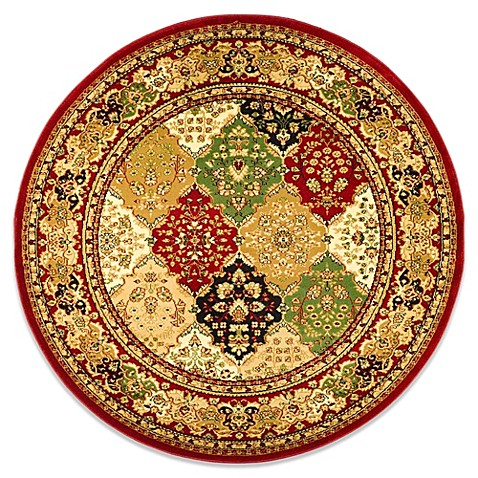 Safavieh Lyndhurst Diamond Patchwork 8-Foot Round Rug in Red