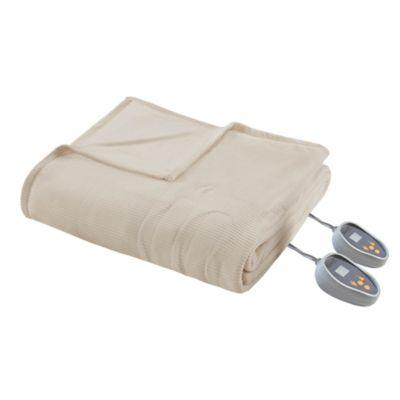 Micro Fleece Heated King Blanket Bedding