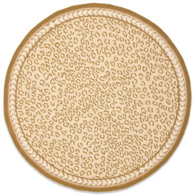Safavieh Chelsea Wool 4-Foot 6-Inch x 6-Foot 6-Inch Oval Rug in Tan