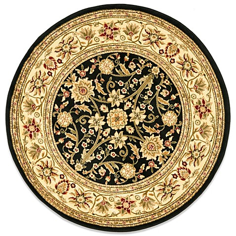 Safavieh Lyndhurst 8-Foot Round Rug in Black and Ivory
