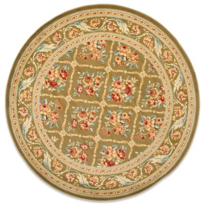 Safavieh Courtland Green 5-Foot 3-Inch Round Rug