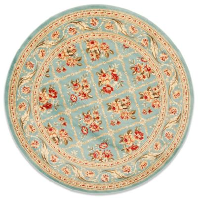 Safavieh Courtland 5-Foot 3-Inch Round Rug in Blue