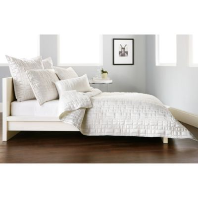 DKNY City Line Twin Quilt in Ivory