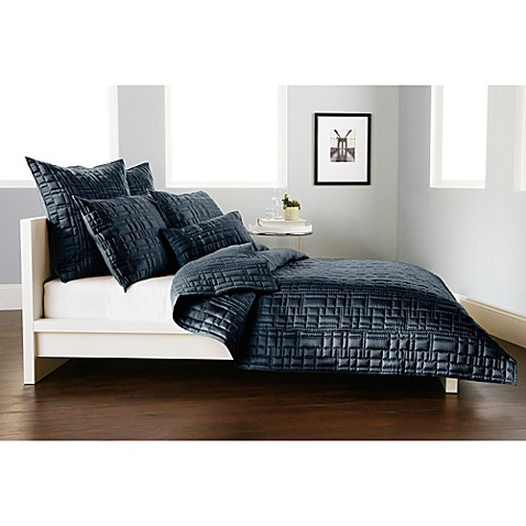 Dkny City Line Pillow Sham In Midnight Bed Bath Amp Beyond