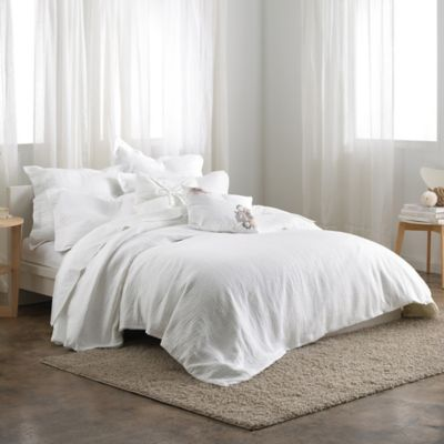 DKNYpure Pure Indulge Full/Queen Duvet Cover in White
