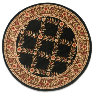 Safavieh Lyndhurst Collection Feodore 5-Foot 3-Inch Round Rug in Black and Brown
